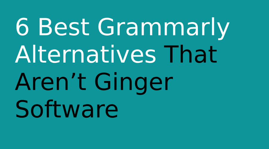 Grammarly free alternatives